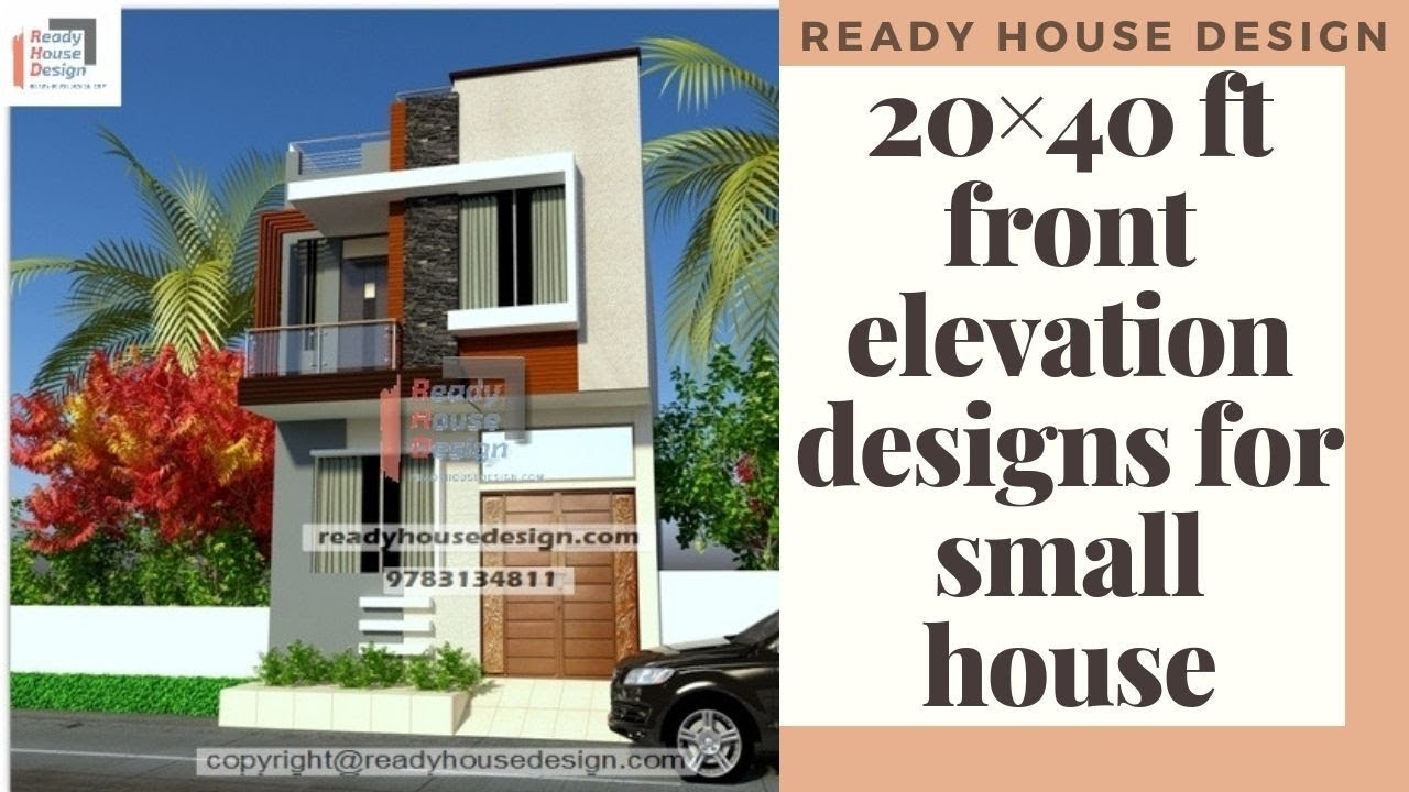 20×40 ft front elevation designs for small houses double ...