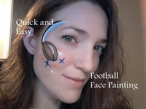 Face Paint Football Easy