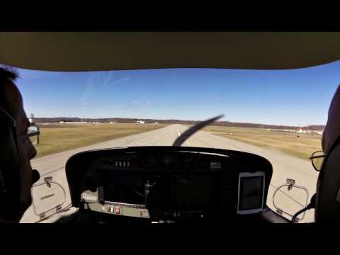 Landing in Dutchess County Airport KPOU in a DA40