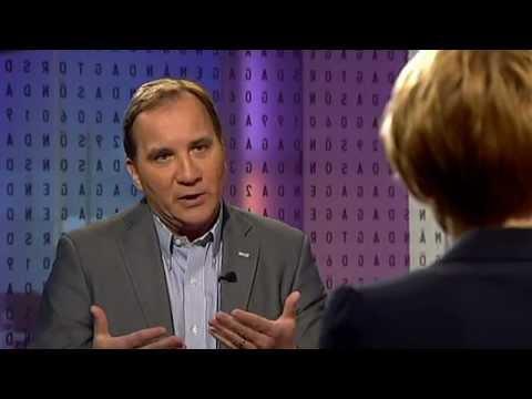 Stefan Löfven (S) och Anna Karin Hatt (C) debatterar kärnkraften