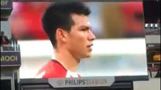 Hirving Lozano Goal/Golazo & Song at PSV - AZ : 12-08-2017 : 1-1