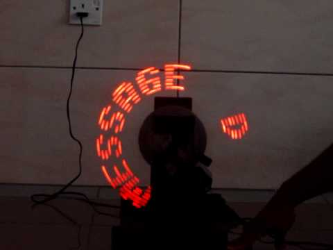 Rotating Led Message Display System Youtube