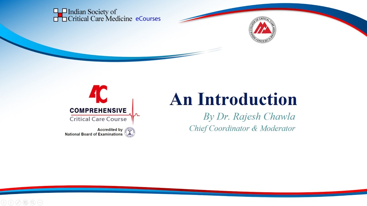ISCCM's - 4C (Comprehensive Critical Care eCourse) [NBE Accredited]