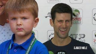 "Novak Djokovic ""right Now My Son Knows Federer & Nadal""   Dubai 2020 Hd"