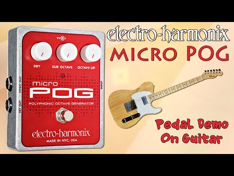 EHX Micro POG Pedal Demo for Guitar - Want 2 Check