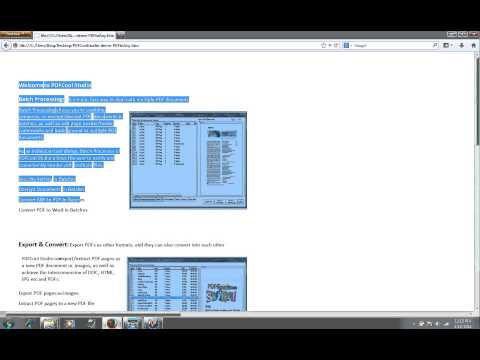 PDFCool Studio - How to Convert PDF to HTML - YouTube