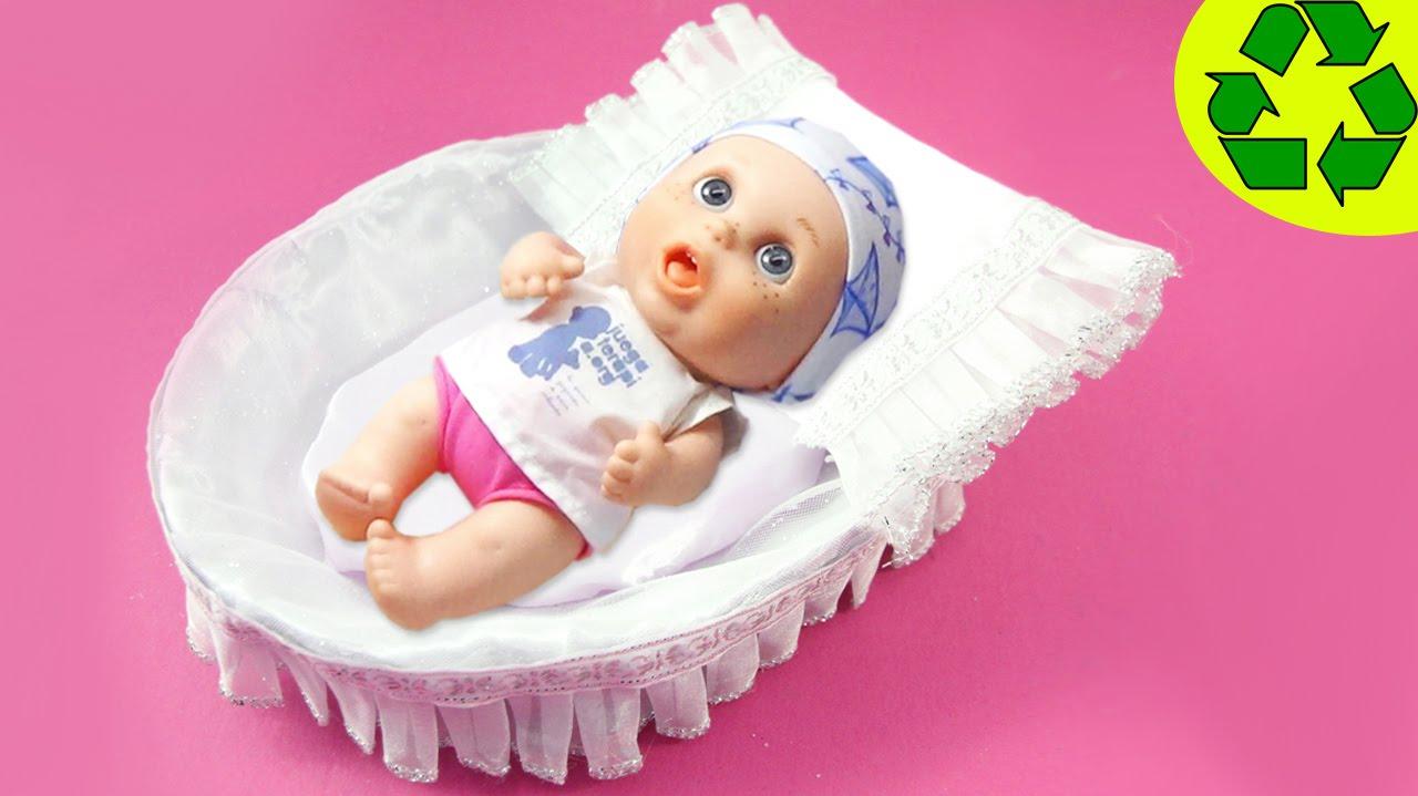 Cómo hacer un cuna portátil o Moisés para tus munecas (BabyPelones ...