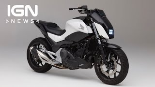 Honda's New Motorcycle Uses Robotics to Stay Upright - IGN News