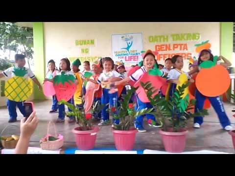 Five Food Groups Dance of Kindergarten Kids Siniloan ES