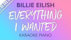 Billie Eilish - everything i wanted (Karaoke Piano)