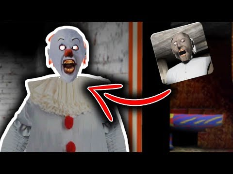 Pennywise in Granny Horror Game at 3:00 AM... (Granny Mobile Horror Game Pennywise Mod Gameplay)