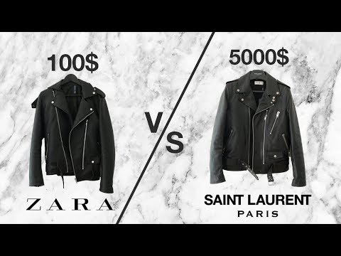 cc76daae $5000 vs $100 LEATHER JACKET (Saint Laurent L17 + ZARA) - YouTube