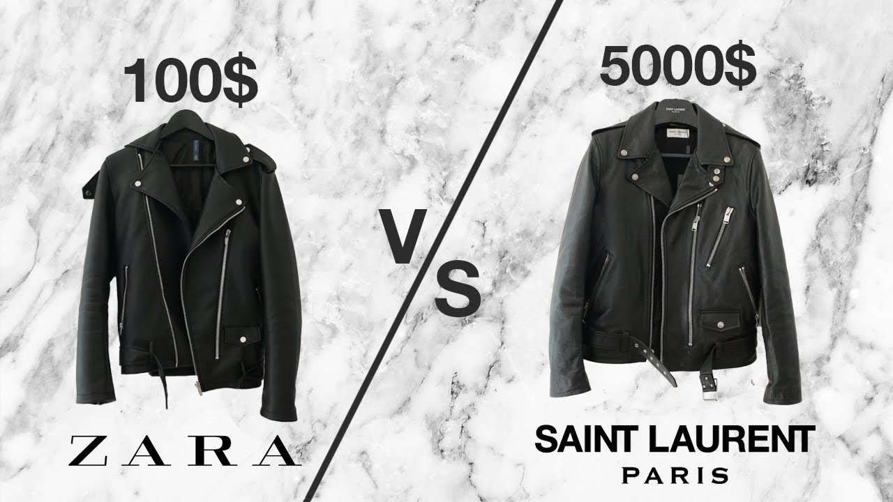 405e4b1f $5000 vs $100 LEATHER JACKET (Saint Laurent L17 + ZARA)