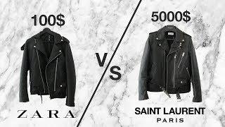 $5000 vs $100 LEATHER JACKET  (Saint Laurent L17 + ZARA)