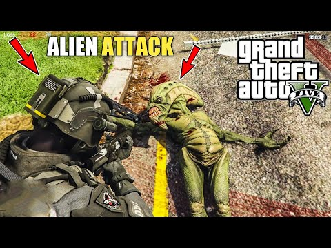 GTA 5 : ALIENS ATTACK IN LOS SANTOS || BB GAMING