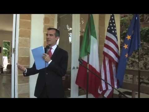 Mayor Garcetti at Consul General's Residence