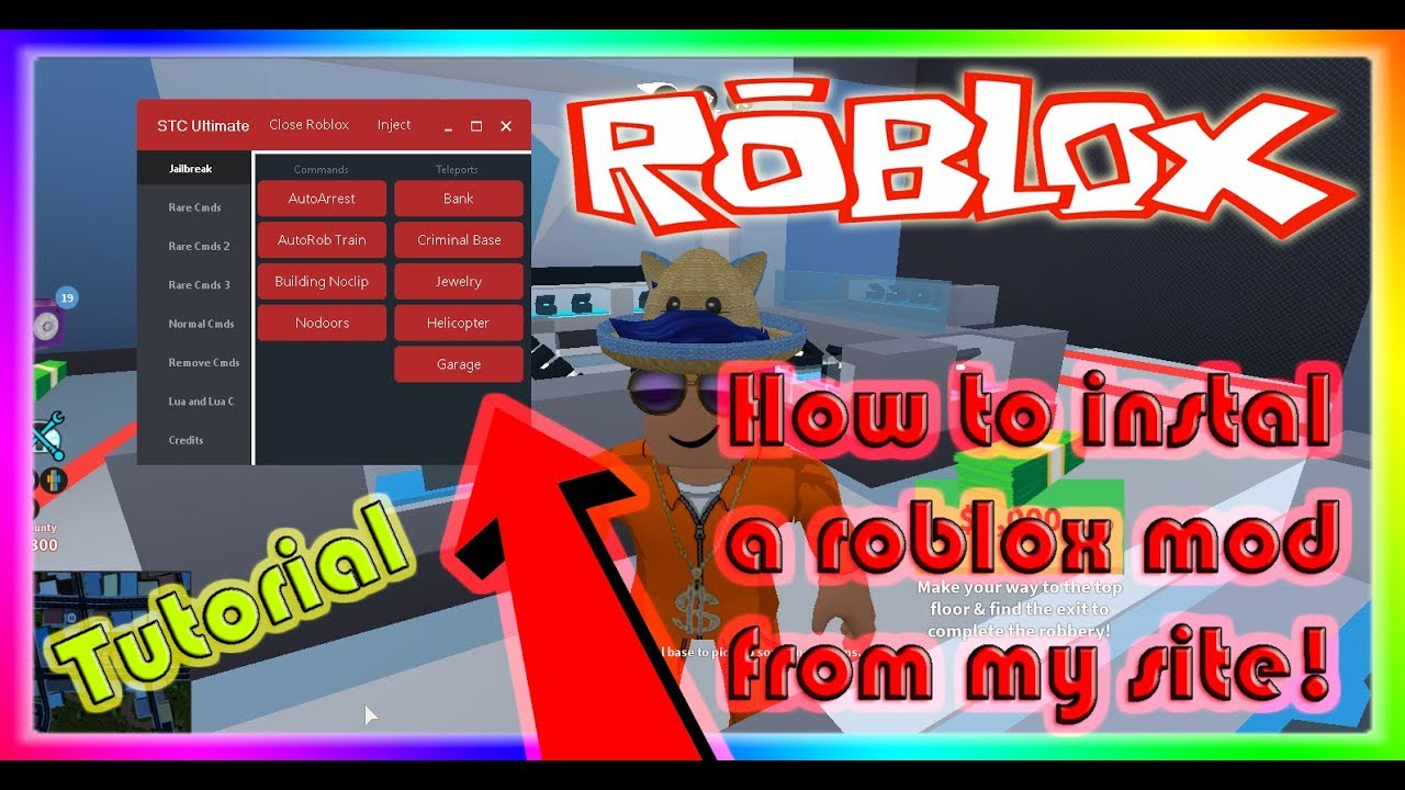 Roblox Mod Menu Download Youtube Tutorial How To Instal A Roblox Exploit Mod Menu Stc Mods Youtube