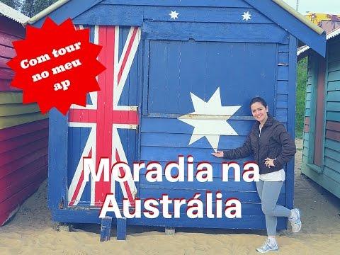 Moradia na Australia - valores, como alugar + tour pelo meu ap