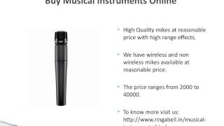 Buy Online Musical Instruments in Delhi, India- Ringabell.in
