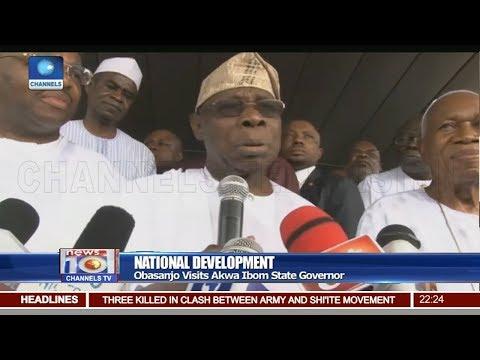 Obasanjo Visits Akwa Ibom Gov. On National Development 28/10/18 Pt.2 |News@10|