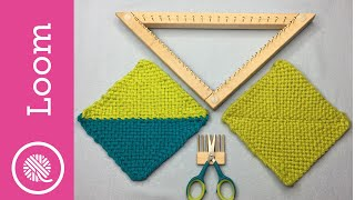 How to Weave a Triangle on a Loom (Right Handed) plus join to weave square