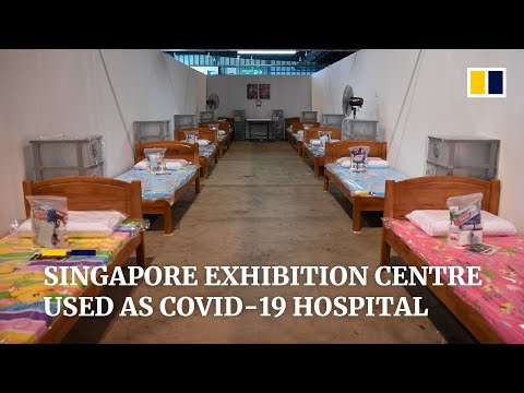 Singapore uses convention centre as hospital for coronavirus patients as cases surge