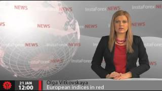 InstaForex News 21 January. European indices in red