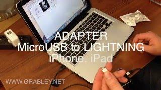 Переходник для iPhone (Adapter MicroUSB to Lightning 8-pin)
