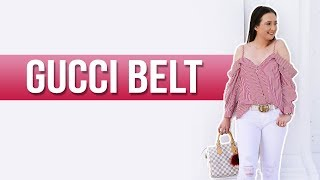 The belt everyone WANTS | Gucci marmont belt review | Sizing, wear and tear, price