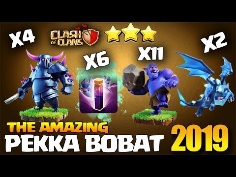 Most Powerful Attack Strategy Th11 Ed Pekka BoBat - Best Th11 3 Star Attack Clash Of Clans