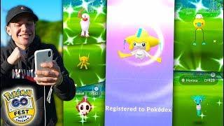 WE CAUGHT OVER 100 SHINY POKÉMON + JIRACHI IN 1 DAY! - Pokémon GO Fest 2019 (Part 2)
