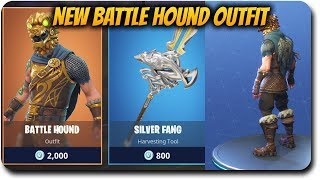 """Fortnite Battle Royale """"New Battle Hound Outfit and Silver Fang!"""" PS4 Pro Gameplay Live Stream!"""