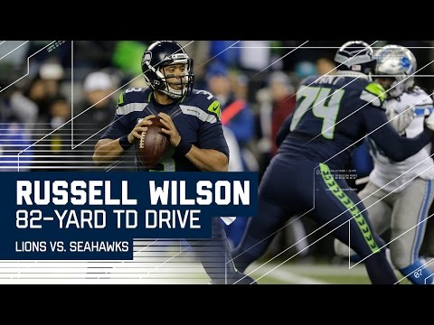 Russell Wilson Leads 82-Yard Drive Capped Off By Rawls TD!   NFL Wild Card Highlights