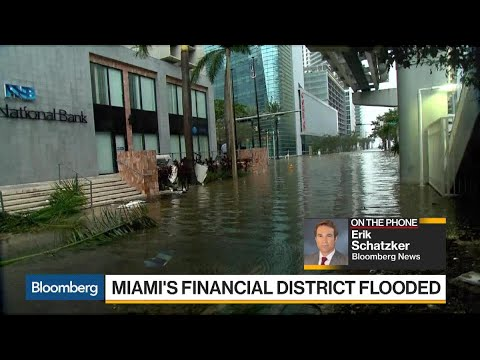 Miami's Financial District Flooded by Hurricane Irma