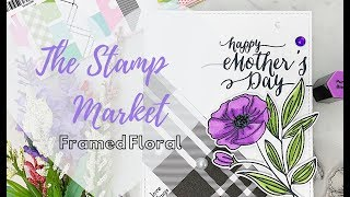 The Stamp Market Framed Floral Mother's Day Card