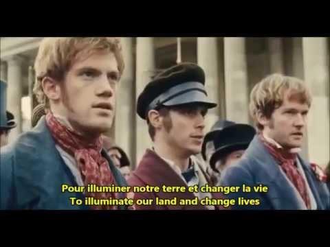 Les Misérables Volonte du Peuple French English Lyrics Paroles Version Do  You Hear the People Sing?