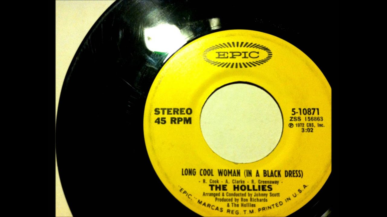 Hollies long woman in a black dress
