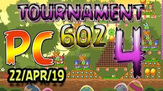 Angry Birds Friends Level 4 PC Tournament 602 Highscore POWER-UP walkthrough #AngryBirds