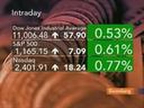 Stocks Rise as Dow Tops 11,000 for First Time Since May: Video