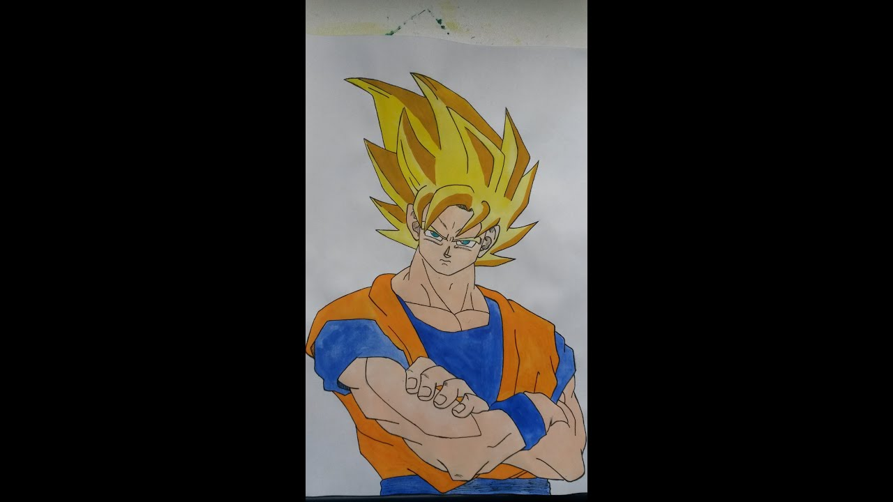 How To Draw Son Goku Ssj Step By Step Full Color 20161122