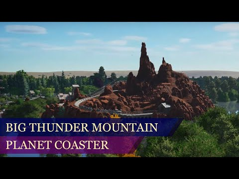 Big Thunder Mountain Onride POV - Planet Coaster