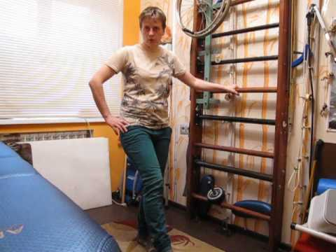 видео: Переразгибание в колене при ходьбе. После инсульта / knee flexion while walking. after a stroke