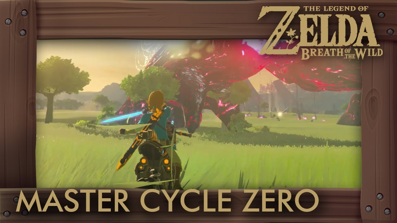 Zelda Breath Of The Wild Master Cycle: Master Cycle Zero In Ganon Battle