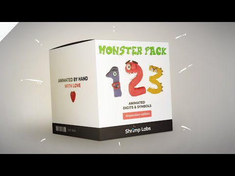 Monster Pack: Stop-Motion Digits And Symbols PROMO VIDEO