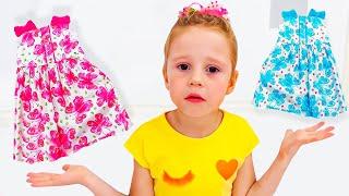 Nastya babasıyla bir prenses partisine gidiyor, hikayeler koleksiyonu