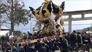 平成30年北条節句祭り 宵宮 東郷本社宮入