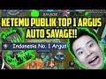 Download Video KETEMU PUBLIK TOP 1 ARGUS DI RANK!! AUTO SAVAGE BOSS!! - Mobile Legends MP4,  Mp3,  Flv, 3GP & WebM gratis