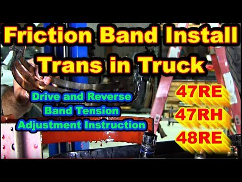 Friction Band Install Adjustment Trans in Truck 2nd Gear 47RE 47RH 48RE Dodge Ram