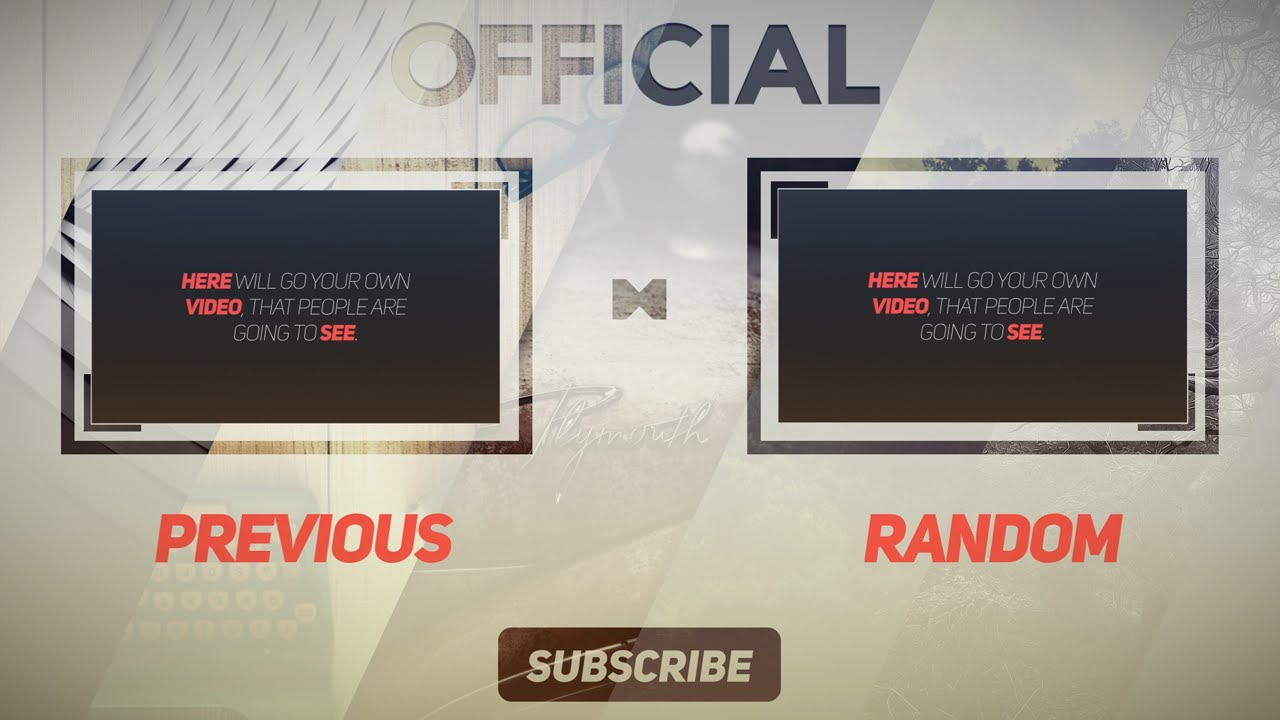 Clean free 2d outro template after effects free outro for Blank outro template