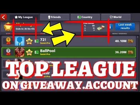 account giveaway 8 ball pool